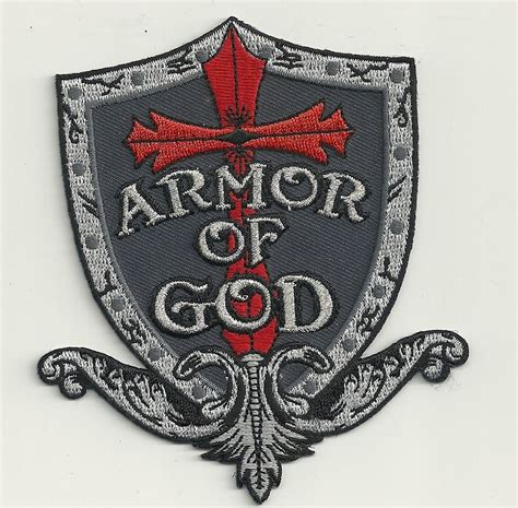 Harbolnas Buy 1 Get 1 Free Armor Shield Ironman Highq Armor Of God Shield Embroidered Patch Ebay
