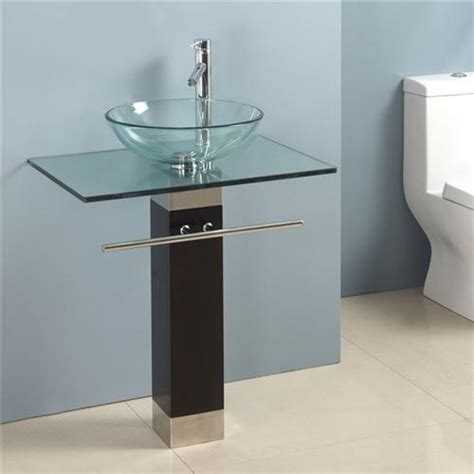 new glass bowl vessel sink bathroom vanity towel rack