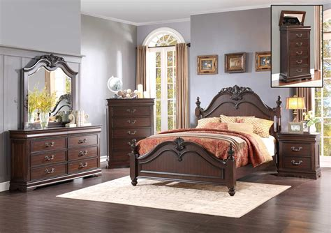 Homelegance Bedroom Set by Homelegance Mont Belvieu Bedroom Set Cherry 1869 Bedroom