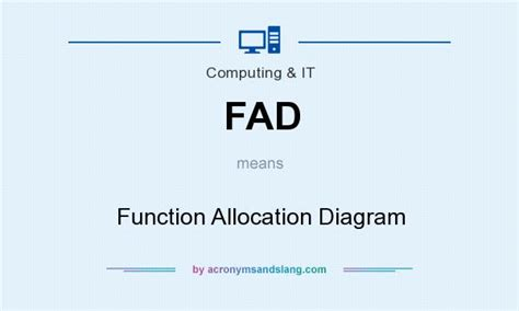 allocation diagram fad function allocation diagram in computing it by