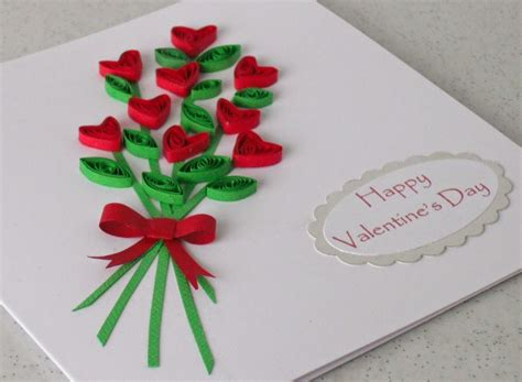 Craft Paper Card - paper quilling card for s day arts and crafts