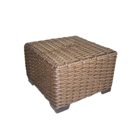 allen roth blaney wicker patio allen roth blaney wicker patio chair end table from