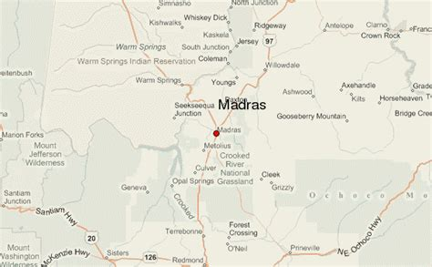 map of oregon madras madras location guide