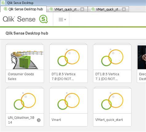 qlik sense desktop quick build tutorial vertica quickstart for qlik sense