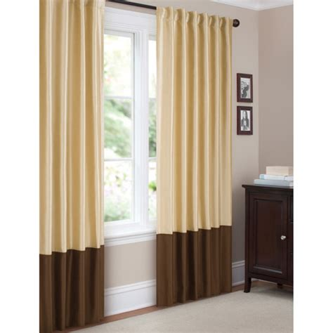 walmart canopy curtains better homes and gardens pieced faux silk curtain panel