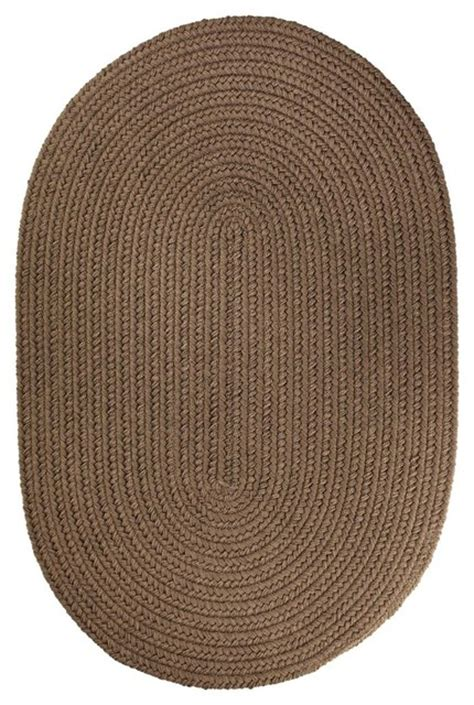 Oval Braided Rugs 5x8 by 5 X8 Oval 5x8 Rug Brown Velvet Solid Carpet Braided