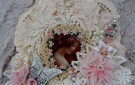 Wall Hanging Vintage Shabby Flower Picture 212 best images about vintage lace doily wall hangings on