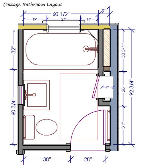 plumbing layout for a bathroom cottage bathroom archives page 3 of 3 design
