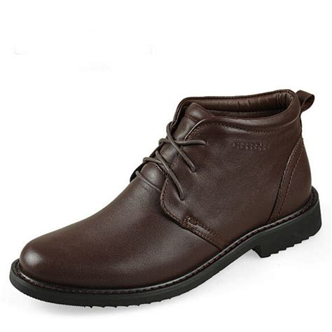 mens dress boots for winter brand quality winter snow boots fashion s genuine