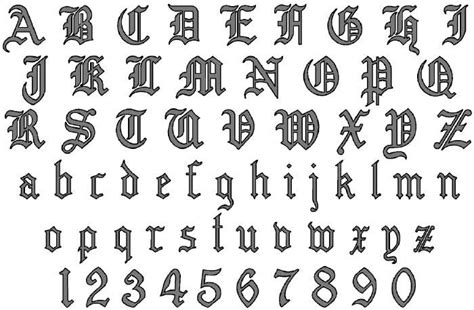 printable tattoo fonts old english alphabet a z printable upper case alphabet