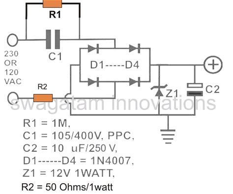 capacitor in a dc power supply calculating capacitor current in transformerless power supplies