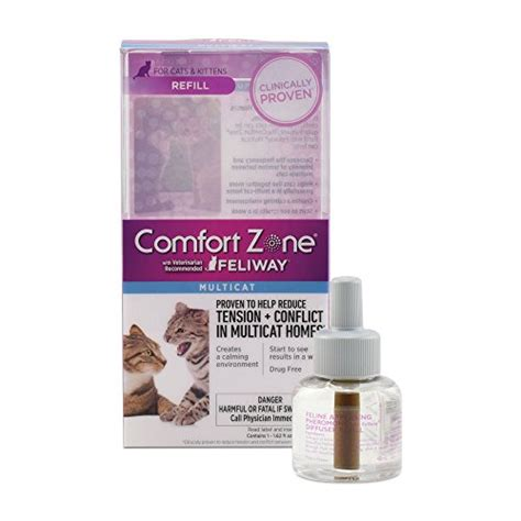 Comfort Zone Diffuser by Comfort Zone Feliway Multicat Diffuser And Refill For Cat