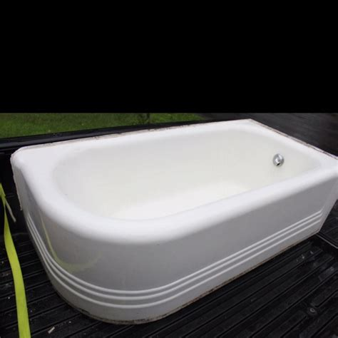 vintage corner bathtub 20 s curved corner cast iron bath tub vintage decor