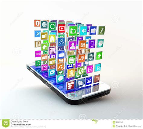 Application De T 233 L 233 Phone Portable Avec Le Nuage Des Ic 244 Nes D Application
