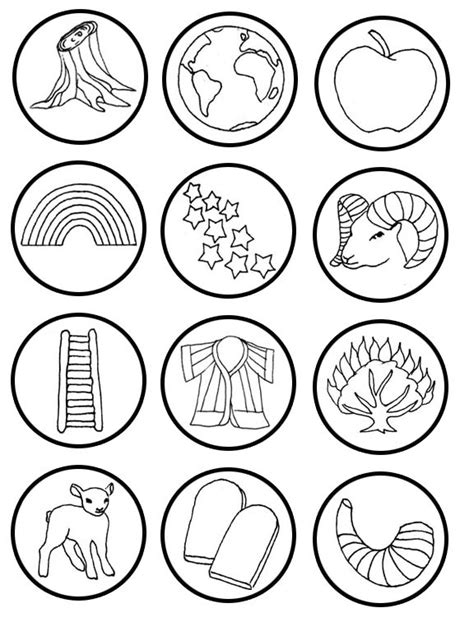 printable jesse tree ornaments free small round jesse tree symbols printable seasonal