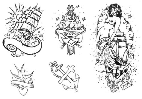 Old School Tattoo Outlines | image gallery old school tattoo outlines