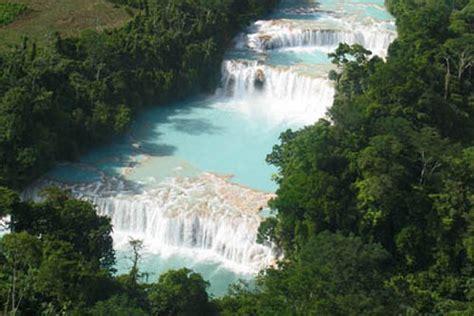 imagenes de paisajes que existen en mexico las cascadas de agua azul en m 233 xico