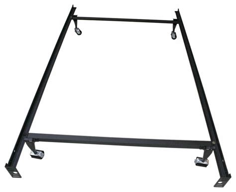 Wheels For Metal Bed Frame Khome Khome Duty Metal Bed Frame With Rug Rollers Locking Wheels Size Reviews