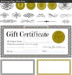 best photos of gift certificate templates fill in gift