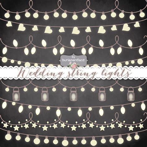 rustic string lights vector rustic string lights clipart wedding invitation