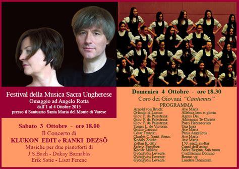 consolato ungheria varese il festival di musica sacra ungherese al sacro