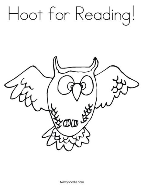 owl reading coloring page hoot for reading coloring page twisty noodle