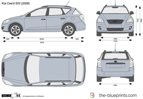 Kia Ceed Sw Dimensions The Blueprints Vector Drawing Kia Cee D Sw