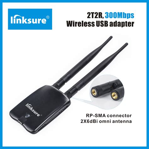 Wifi Adapter Usb Dongle Wireless 300 Mbps Antena 2t2r 300mbps wireless usb adapter dual omni antenna 6dbi n315