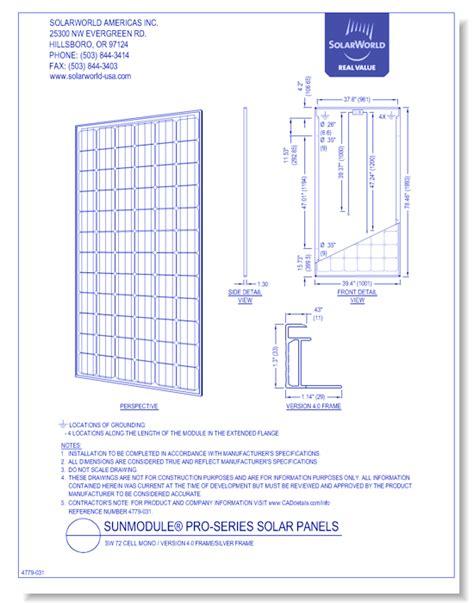 Autocad Solar Panel Drawings