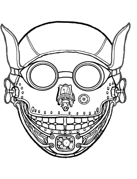 free printable mask coloring pages kids