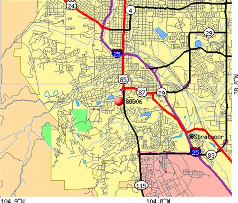 zip code map of colorado springs zip code map of colorado springs zip code map