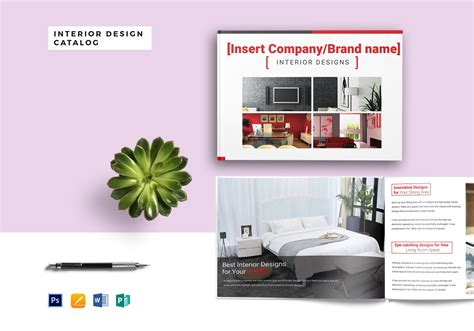 interior decorators catalog interior design catalog template in psd word publisher apple pages