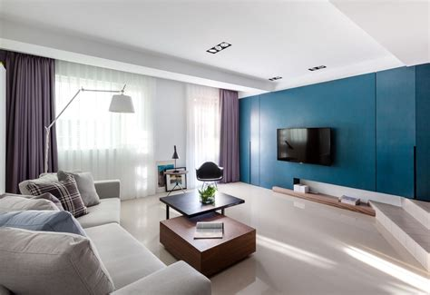 purple living room vibrant blue and purple apartment decor