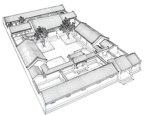 traditional chinese house plans siheyuan quadrangles four side enclosed courtyard reprinted apple eden s blog