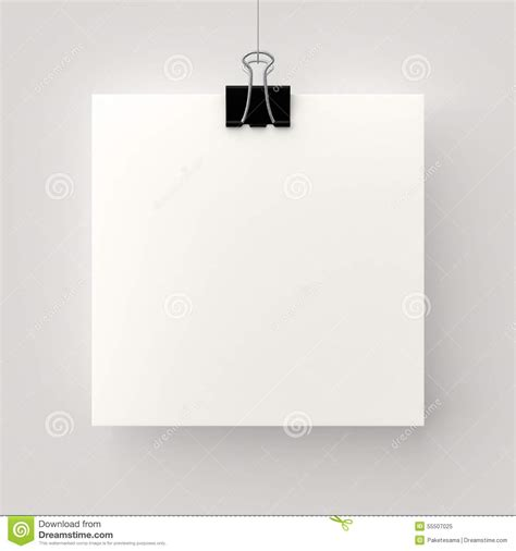 poster clips hanging poster stock illustration image 55507025