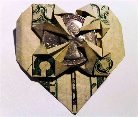 Money Origami With Quarter - quarter dollar origami comot