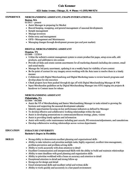 Merchandising Resume by Merchandising Assistant Resume Sles Velvet