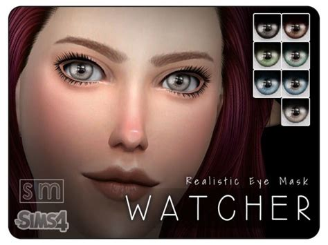 sims 4 realistic eyes the sims resource watcher realistic eye mask sims 4