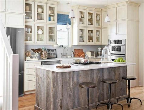 white kitchen wood island 25 great ideas about barn wood cabinets on pinterest