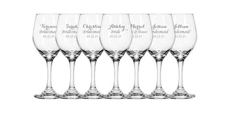 Wedding Gift Wine Glasses by Personalized Bridesmaid Gifts 8 Bridesmaid Wine Glasses
