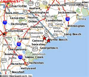 find your favorite destination on myrtle sc map