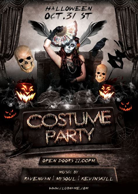 costume flyer templates costume flyer template on behance