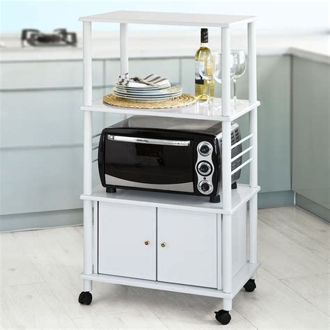 Kitchen Storage Carts Cabinets Sobuy 174 Kitchen Storage Cabinet Kitchen Cart Microwave Shelf Frg12 W White Uk