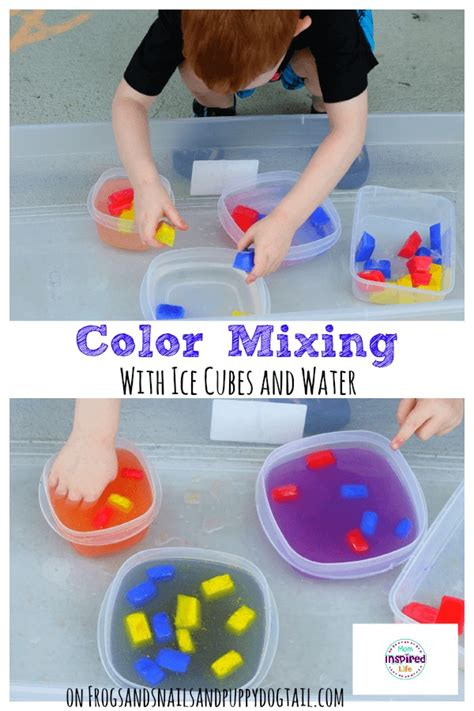 color mixing with cubes and water fspdt