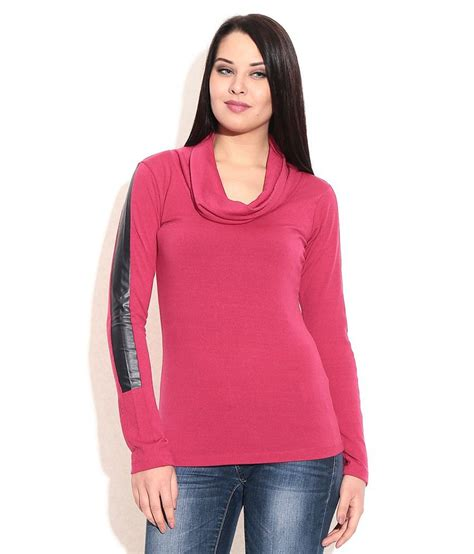 Cij T Shirt Kotak Pink Blouse buy remanika pink cotton lycra tees at best prices in india snapdeal