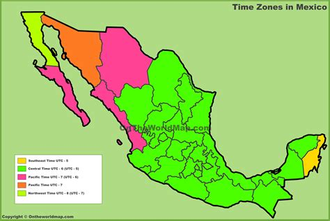 map of us and mexico time zones time zones us and mexico images