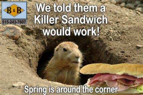 groundhog day killer des moines groundhog day no shadow just killer sandwiches