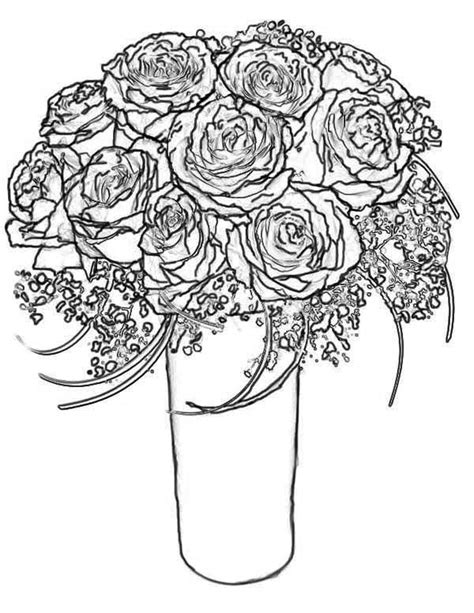 coloring pages more images roses 12 best photos of bouquet of roses coloring pages rose