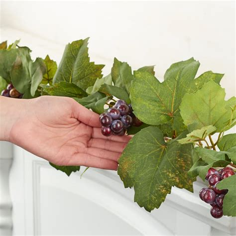 artificial grape leaf garland garlands floral supplies