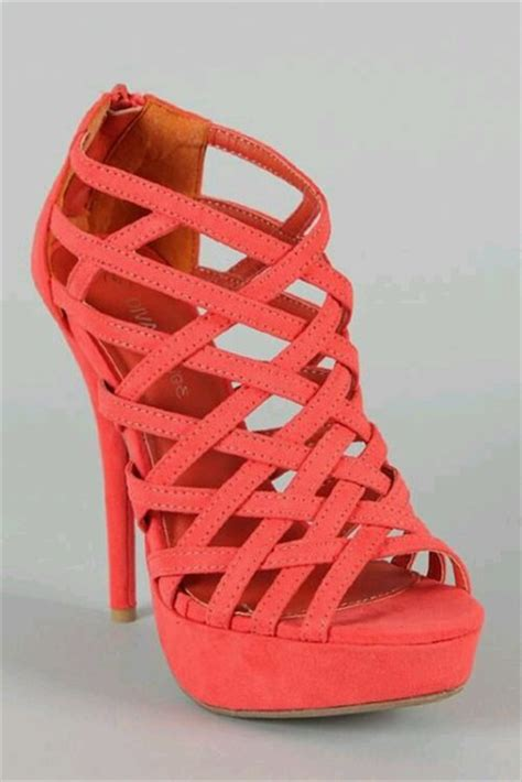 coral high heels shoes coral high heels wheretoget